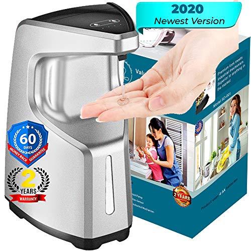 VALUEPACKTON Automatic Soap Dispenser - Automatic Hand Sanitizer Dispenser - Touchless Soap Dispenser | Premium, Waterproof 15.2oz/450ml, 4 Adjustable Volume, Alcohol Compatible