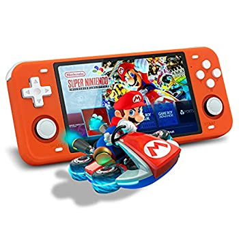Handheld Game Console Powkiddy RGB10 Max Video Game Console Handheld Game Systems  5 Inch Retro Game Console With Built In Games 17000 In 128G  Retroid IPS Screen Upgrade WiFi and Bluetooth