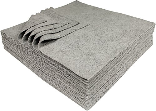 Udderly Clean Silver Embedded Cleaning Microfiber Towels Ultra Cut 12 X 12 Inches 25 Pack