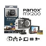 Panox MX200 Cámara Deportiva, no Aplica, Negro