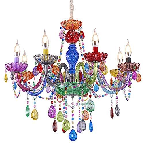 GLY Bunte Kristallleuchter-Deckenleuchten Der Glasleuchter-K9 Moderne Kronleuchter Lampe Schlafzimmer Schlafzimmer Lampen Kronleuchter Kristall for Mädchen-Schlafzimmer, Kidsroom, Wohnzimmer
