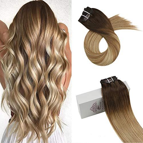 Moresoo 22 pulgadas Clip in Hair Extensions Pelo Extensiones