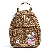Vera Bradley Straw Backpack, Dark Brown w/Fruit