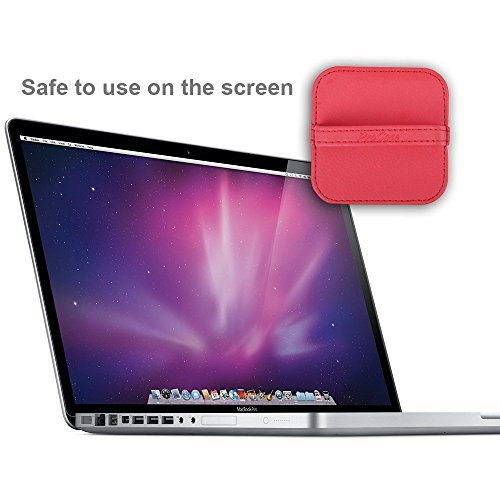 ProCase Screen Cleaning Pad Cloth Wipes for iPad, iPhone, MacBook, Tablets, Laptop Screen, Touch Screen Devices, Screen Cleaner for Cellphone, Computer, Camera, TV Screens -4 Pack, Black/Navy/Red