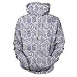Mauve and White Hoodie Hooded Sweatshirt Lace Design Hexagon for Men/Women
