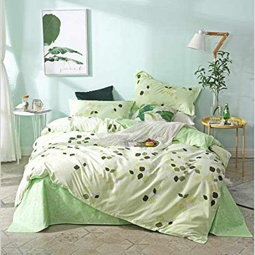 Teyun. Vier Stück Bett Bettwäsche, Baumwolle Hochwertige High-Density-Brushed Bettwäsche Pillowcase, Geeignet for Home Interior (Color : Green, Size : 200CM)