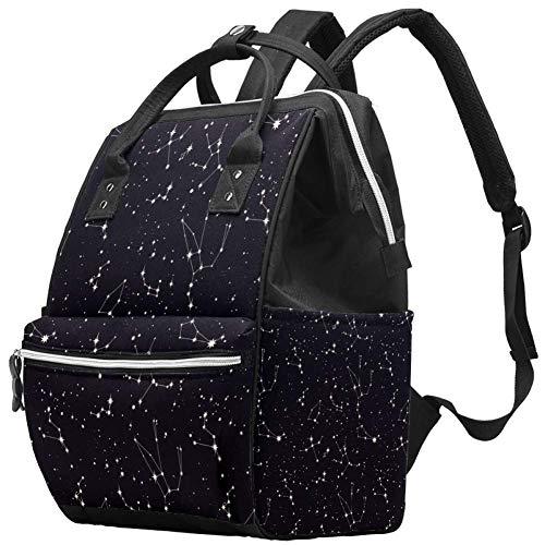 TIZOTAX Star Constellation Sac à dos à langer grande capacité pour mamans et papas