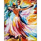 Pintura por números pintura bailarina DIY lienzo imágenes por números pintura al óleo pintada a mano música chica decoración del hogar A8 50x70cm