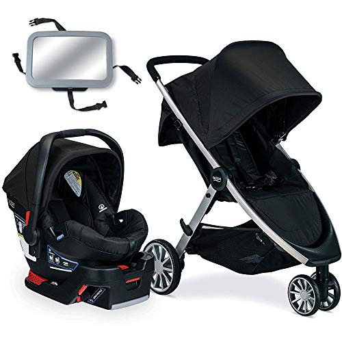 Lowest Price! Britax B-Lively Travel System with B-Safe 35 Infant Car Seat - Raven with Backseat Mir...