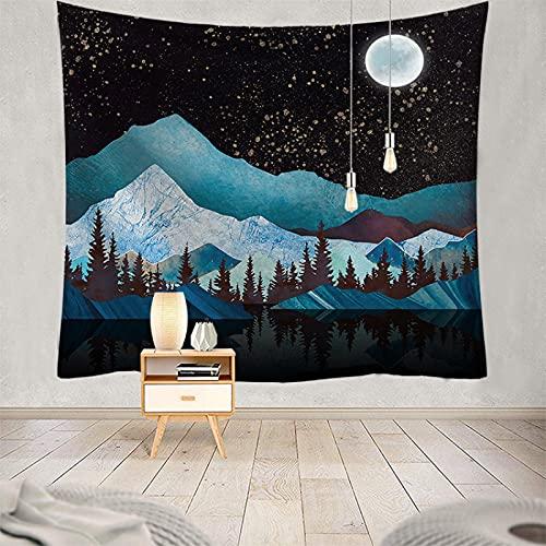 YDyun Vägggobeläng gobeläng vägg hängande natur landskap gobeläng heminredning för sovrum vardagsrum multifunktionell utskrift solnedgång landskap serie