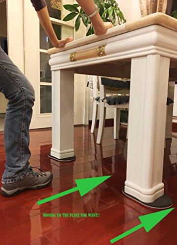 "Furniture Lifter And 8-Pack 2"" Self-Stick Furniture Sliders 8-Pack 1.25"" Furniture Glides for Carpet Mini Furniture Jack Appliances Moving Lifting Sliding Tool Furniture Lever Furniture Lifting Movers"