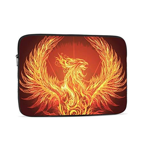 Hangdachang Bolsa antiestática de Hombro para computadora portátil y Tableta para Estudiantes Unisex Trabajadores Fire Phoenix Is Reborn 10 Pulgadas