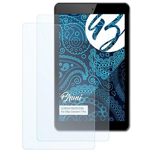 Bruni Schutzfolie kompatibel mit Odys Connect 7 Pro Folie, glasklare Bildschirmschutzfolie (2X)