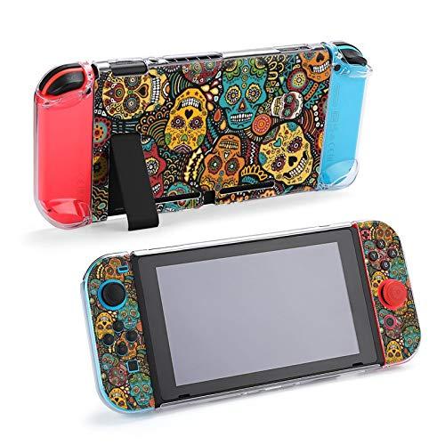 メキシコの砂糖の頭蓋骨 防砕けて Nintendo Switch 対応 カバー、switch 対応 カバーラウンドなシリコーン保護カバー 任天堂スイッチ カバー 対応 アクセサリ