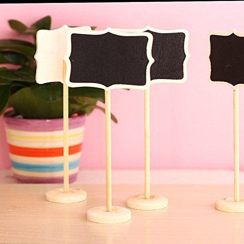 LIFECART 10pcs DIY Mini Chalkboard Blackboards On Stick Stand Place Holder Wedding Table Decoration by LIFECART