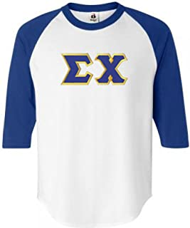 Sigma Chi Lettered Raglan T-Shirts