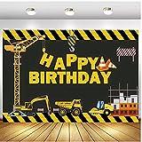 Tema de construcción para fiestas de cumpleaños, fotografía, telón de fondo, constructor, camión volquete de cumpleaños, decoración de fondos para estudio fotográfico de vinilo, 1,5 x 2,1 m