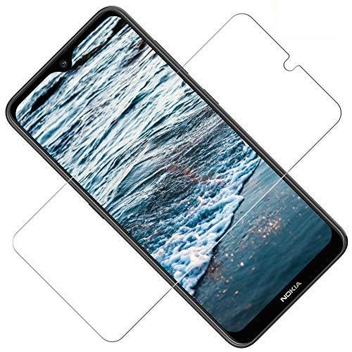 TOCYORIC Nokia 8.1 Pellicola Protettiva Vetro Temperato, [2 Pezzi] Nokia 8.1 Protezione Schermo HD Trasparente, Ultra Resistente, 9H Durezza, Anti-Graffi, Senza Bolle, 3D Touch Screen Protector