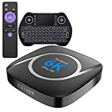Android TV Box 10 4GB 64GB Support 8K 3D 4K, Dual WiFi 2G 5G WiFi All Winner H616 Smart tv Box Bluetooth with Keyboard