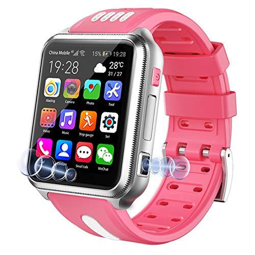 Smartwatch Niños Niñas 4G Wifi Rastreador De GPS LBS Bluetooth Reloj Inteligente Con Videollamada Cámara Doble Pantalla Táctil Mp3 Calculadora Despertador Navidad Cumpleaños Año Nuevo Regalos,F