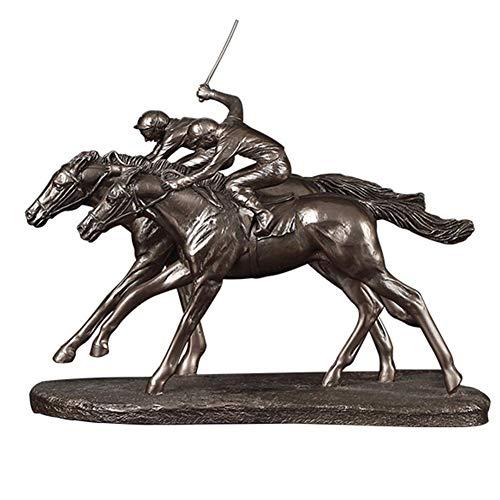 JYKFJ Escultura de estatuilla de Jinete de Carreras de Caballos, Adorno de Jockey, Caza de obstáculos, decoración del hogar, Regalo para cumpleaños, Aniversario