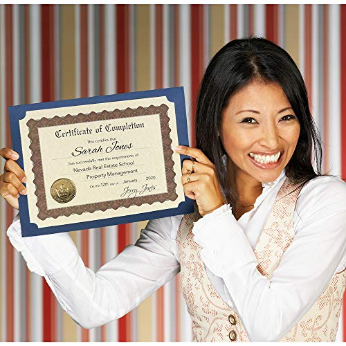"""Great Papers! Certificate of Completion, Pre-Printed, Gold Foil, Embossed, 8.5"""" x 11"""", 6 Count (930400) Photo #2"""