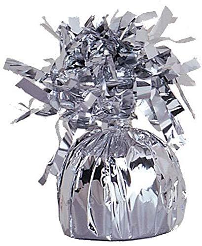 Unique Party Supplies 4939 Folien-Ballongewicht - Silber