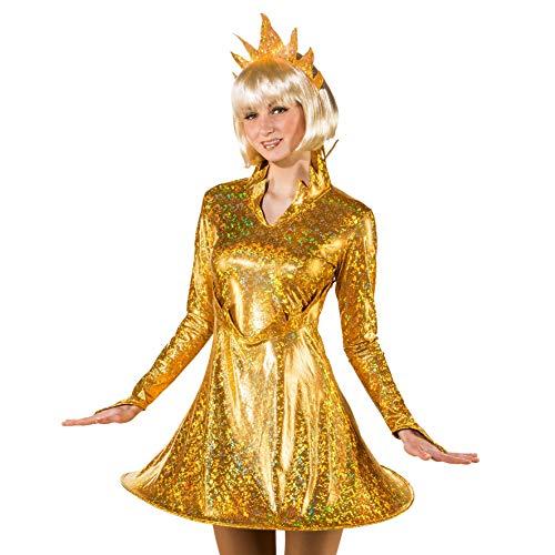 Kostüm Teufelin Kleid rot Flammen Feuer Halloween Karneval Fasching (38/40)