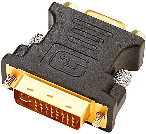 DTech DVI zu VGA Konverter Stecker zu Buchse Adapter DVI-I 24 + 5 Port für HDTV, Plasma, DVD und Projektor