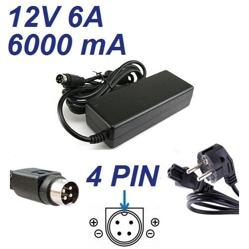 Cargador Corriente 12V 6A 4 Pin Reemplazo Televisor TV ANTARION TNT 15796S Recambio Replacement
