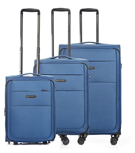 Epic Discovery AIR Ultra, 3tlg. Kofferset Weichcase Stoffkoffer,Farbe: Pacificblue
