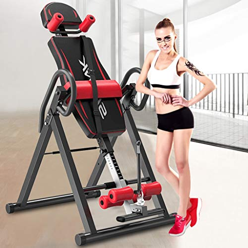 US Fast Shipment - Inversion Table for Back Pain Relief, Haokanba Foldable Heavy Duty Inverted Gravity Table for Easy Storage, Inversion Back Stretch Machine for Home Exercise with 300 lbs Weight Cap