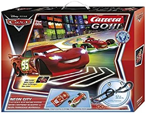 Carrera GO    Disney Cars Neon City Rennbahn 62357 Streckenl e  ca. 6,2 m TO