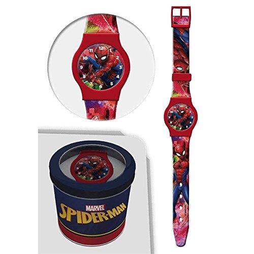 Star Licensing Orologio Spiderman Marvel da Polso ANALOGICO CONF. CM 24 - 50580ROSSO