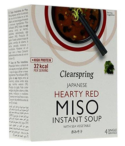 Clearspring Hearty Soupe Miso avec légumes de mer Rouge 40 g