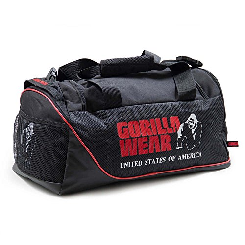 Gorilla Indossare Jerome Gym Bag - Nero/Rosso - Bodybuilding e Fitness Gym Bag Uomo