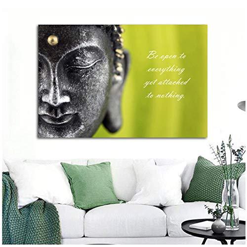 Buddha Inspirational Quotes Canvas Painting Living Room Wall Art Prints Studio Poster Print Home Decor 27.5'x41.3' (70x105cm) Frameless