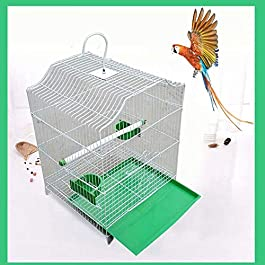 ANJJ Bird cage, parrot cages large parrot cage habitat toys to send food bowl