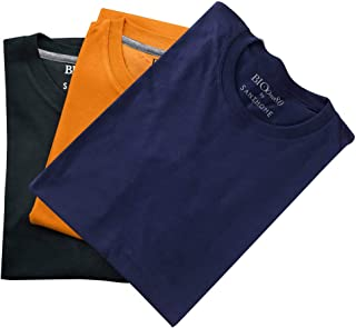 (3 Pack) Santhome Bio180 Men's 180gsm 3 pcs Wholesale/Bulk/Pack Cotton T-Shirts Short Sleeve Crew Neck