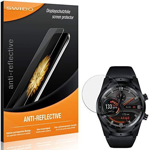 SWIDO Schutzfolie für Mobvoi Ticwatch Pro 4G LTE [2 Stück] Anti-Reflex MATT Entspiegelnd, Hoher Festigkeitgrad, Schutz vor Kratzer/Folie, Bildschirmschutz, Bildschirmschutzfolie, Panzerglas-Folie