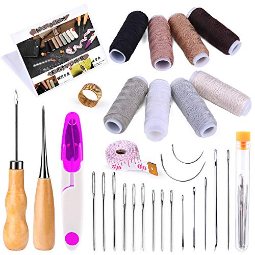 RMTIME 30点 縫製セット ミシン糸 縫い針 千枚通し 巻尺付き 家庭用裁縫セット 手芸
