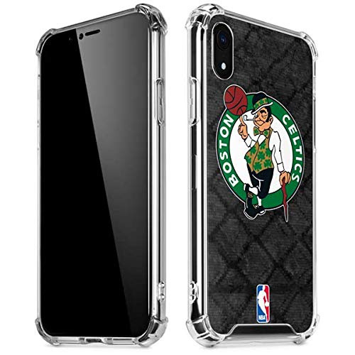 Skinit Clear Phone Case Compatible with iPhone XR - Officially Licensed NBA Boston Celtics Dark Rust Design