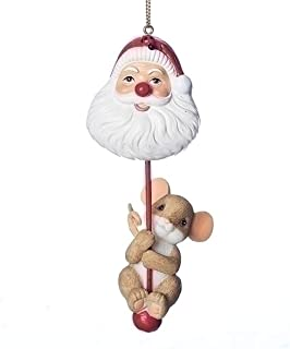 Charming Tails Mouse with Santa Head 2018 Dated Ornament