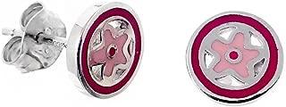 Pendientes plata Agatha Ruiz de la Prada 9mm. flor cerco [AB7145]