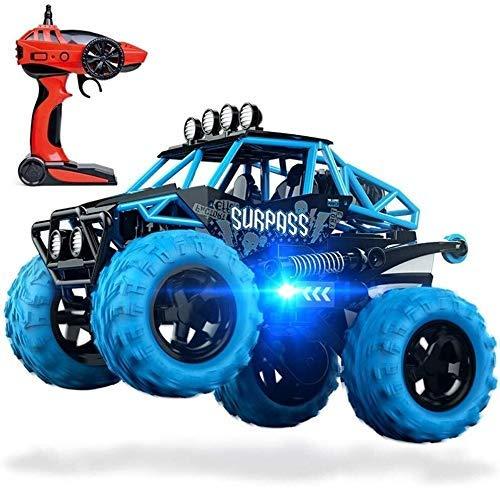 Coche teledirigido de 2,4 GHz 4WD todo terreno de alta velocidad 1/18 dual Motors - Diversión alta velocidad Transformación de control remoto Stunt juguete - 360 de rotación, tirones, Run (Color: Rojo