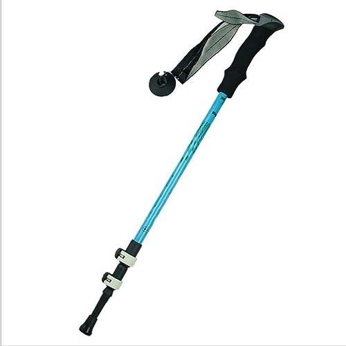 YYHUWAI Ensemble de batons de randonnée Ajustables en Aluminium - Baton de Marche ou de randonnée léger à Verrouillage à Trois Sections - 64-135Cm