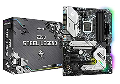 ASRock Intel 8th & 9th Generation CPU (Soket 1151) Z390 Chipset ATX Motherboard Z390 Steel Legend