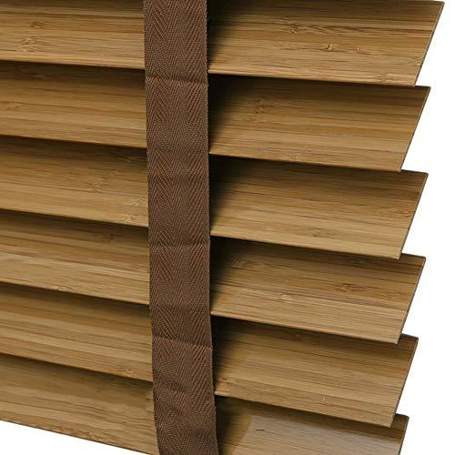 Jalousien Jalousien Aus Holz für Küche/Schlafzimmer/Wohnzimmer/Büro - Horizontale Jalousien Aus Bambus, 50mm Lamellen, 60cm / 80cm / 100cm / 120cm / 140cm Breite (Size : 100x100cm)