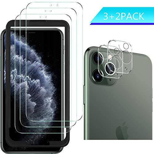 Luibor für iPhone 11 Pro Panzerglas+Kamera Panzerglas,Transparent Anti-Kratzer Anti-Staub Anti-Öl Anti-Bläschen Gehärtetem Glas Displayfolie Schutzfolie für iPhone 11 Pro