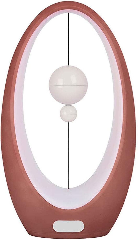 Chenyaohaiyu Tischlampe Kreative Induktion Nachtlicht Magnetschwebebahn Schreibtisch Licht Mondlicht SegelStiefel Kunst Dekorative Lichter Desktop Licht Hotel Zimmer Licht (Farbe   rot-A)